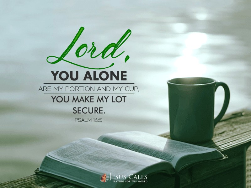 Lord, you alone are my portion and my cup;you make my lot secure.