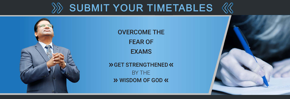 SUBMIT YOUR TIMETABLES | Jesus Calls