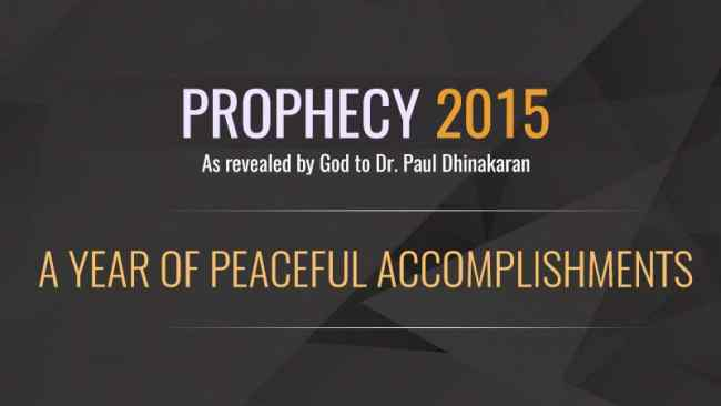 Prophecy of the year 2015